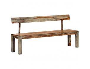 Banca, gri, 160 cm, lemn...