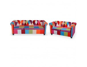 Set canapea Chesterfield, 2...