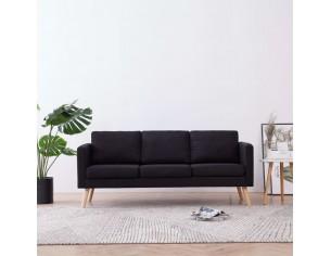 Canapea cu 3 locuri, negru,...