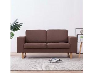Canapea cu 2 locuri, maro,...