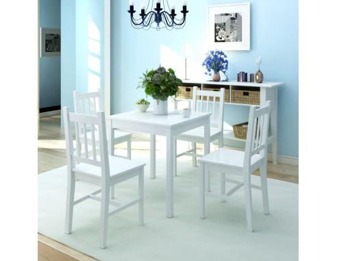 Set cu masa si scaune din lemn de...