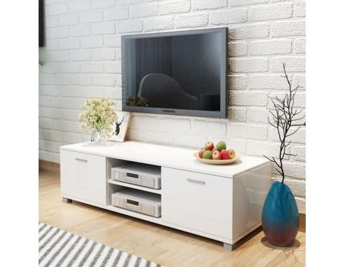 Comoda TV, alb extralucios, 140 x...