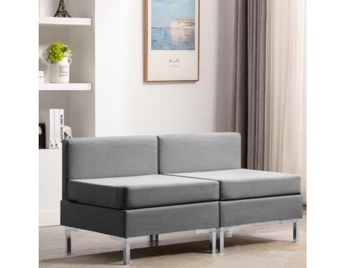 Canapele mijloc modulare cu perne, 2...
