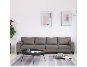 Canapea cu 4 locuri, gri...