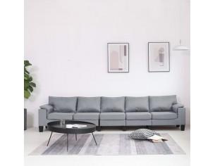 Canapea cu 5 locuri, gri...
