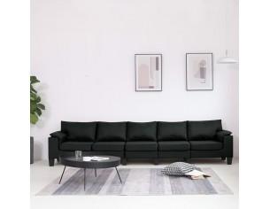 Canapea cu 5 locuri, negru,...