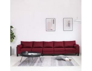Canapea cu 5 locuri, rosu...