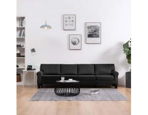 Canapea cu 4 locuri, negru,...