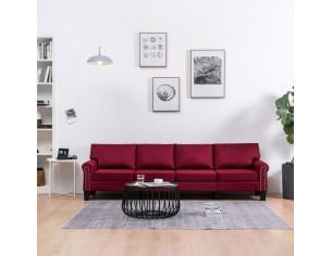 Canapea cu 4 locuri, rosu...