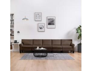 Canapea cu 5 locuri, maro,...