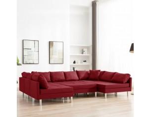 Canapea modulara, rosu vin,...