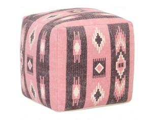Taburet puf, roz, 45 x 45 x...