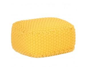 Puf tricotat manual, galben...