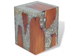 Taburet, lemn de tec masiv...