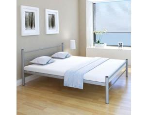 Cadru de pat, gri, 160 x...