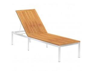 Sezlong, lemn masiv de...