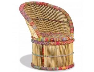 Scaun din bambus cu detalii...
