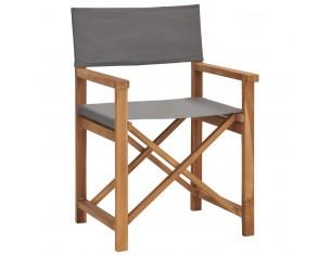 Scaun de regizor, gri, lemn...
