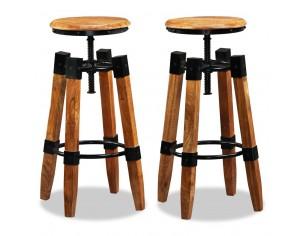 Scaune de bar, 2 buc., lemn...