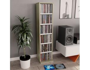 Dulap CD-uri, alb si stejar...