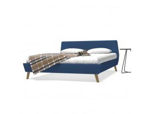 Cadru de pat, albastru, 160...
