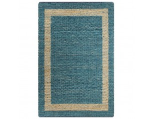 Covor manual, albastru, 80...