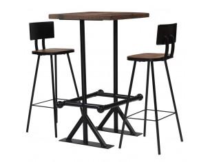 Set de bar, 3 piese, lemn...
