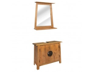 Set mobilier baie din lemn...