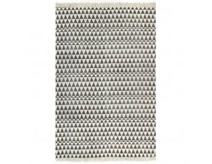 Covor Kilim, negru/alb, 160...