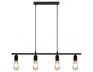Lampa de tavan, negru, 80...