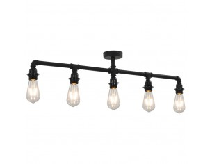 Lampa de tavan, negru, 5...