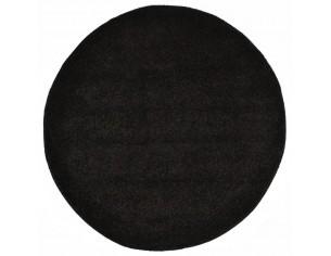 Covor cu fir lung, negru, 67cm