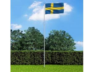 Drapel Suedia si stalp din...