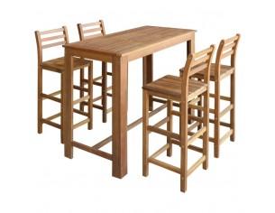Set masa si scaune de bar 5...
