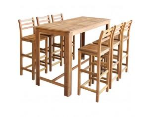 Set masa si scaune de bar,...