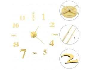 Ceas de perete 3D, auriu,...