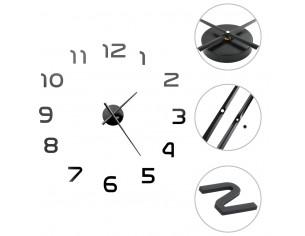Ceas de perete 3D, negru,...
