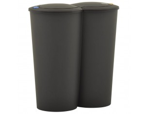 Cos de gunoi dublu 50 L negru