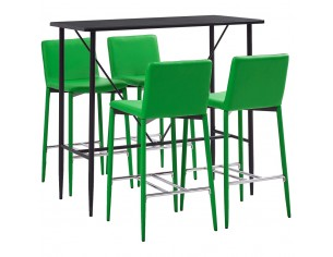 Set de bar, 5 piese, verde,...