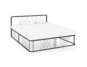 Cadru de pat, negru, 160 x...