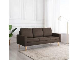 Canapea cu 3 locuri, maro,...
