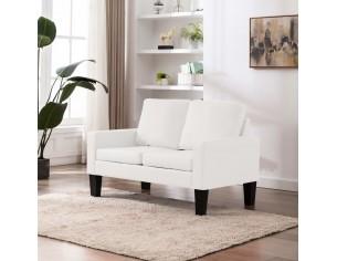 Canapea cu 2 locuri, alb,...