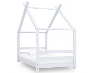 Cadru pat de copii, alb, 80...