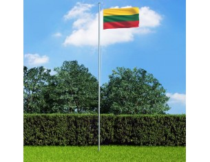 Drapel Lituania si stalp...