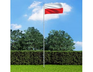 Drapel Polonia si stalp din...