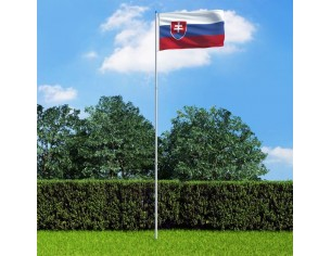 Drapel Slovacia si stalp...