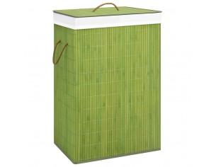 Cos de rufe din bambus, verde