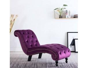 Sezlong, violet, catifea