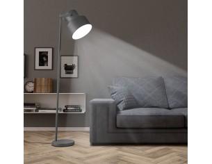 Lampa de podea, gri, metal,...