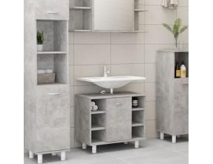 Dulap de baie, gri beton,...